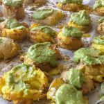 Recept: Smashed potatoes met olievrije pesto